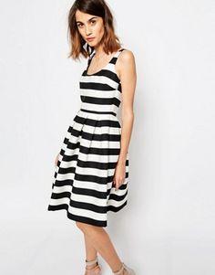 Warehouse Premium Stripe Prom Dress