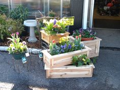 This large planter box is great for a person with limited space that wants some color for there outside seating. You can place this planter on a porch or a patio to add great color in any space. The great thing about this planter is that you can have different flowers every year to fit your personality. Made out of red cedar and sealed with a water replant stain this planter is ready for you and your flowers. It also has holes drilled in the bottom for great drainage.  WHAT YOU RECEIVE…