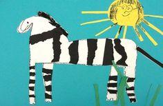 Torn Paper Zebra