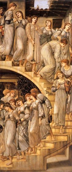 Edward Burne-Jones The Golden Stairs painting for sale, this painting is available as handmade reproduction. Shop for Edward Burne-Jones The Golden Stairs painting and frame at a discount of off. Pierre Auguste Renoir, Pre Raphaelite Paintings, Edward Burne Jones, Dante Gabriel Rossetti, John Everett Millais, Tate Britain, Tate Gallery, Victorian Art, Arts And Crafts Movement