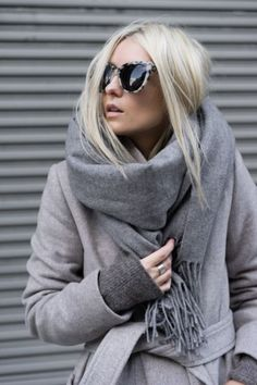 Grey coat over Grey sweater. Could use with black on black