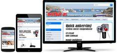 Webshop for Nettbåt AS kodet om til å passe på alle skjermstørrelser. Monitor, Om
