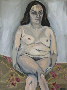 Jemima Kirke's Paintings | Artinfo (detail in drapery pattern)