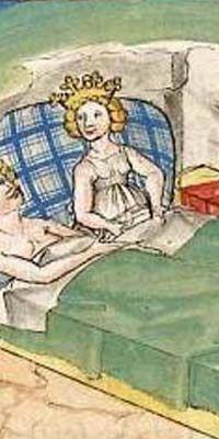 Friedrich von Schwaben, origin: Stuttgart(?), Universitätsbibliothek Heidelberg, Cod. Pal. Germ. 345, f 247r, c. 1470