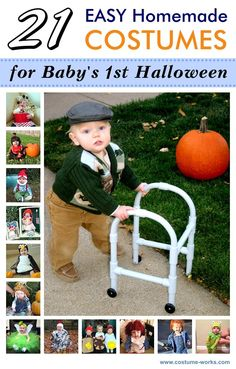 21 Easy DIY Halloween Costumes for Baby& First Halloween via - even better for Braylon - and KASHIUS ! This year, or my new niece Maddelyn :) all my sil& are gonna hate me. Unique Toddler Halloween Costumes, Babys 1st Halloween, Handmade Halloween Costumes, Baby Halloween Outfits, Halloween Kids, Halloween 2016, Baby Ewok Costume, Baby Costumes, Easy Homemade Costumes