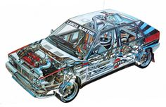 Lancia Delta HF Integrale Gruppo A wallpapers Lancia Delta, Cutaway, Car Illustration, Illustrations, Rc Chassis, Subaru, Carros Suv, Audi, Car Posters