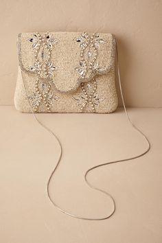 Rainbow Club Handtasche Brauttasche Viki Ivory Satin//Fine Glitter