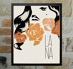 Lana Del Rey  Illustration  Printable Poster  Hand by DESIGNXFIVE, $10.55