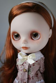 Blythe Doll. Love the albino redhead. :) Awesome.