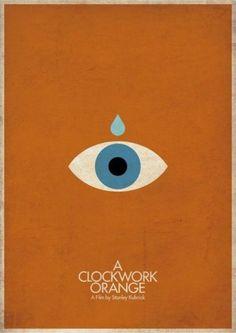 Minimalist movie posters - A Clockwork Orange
