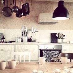 plywood kitchen Brännö