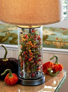 Fillable Glass Lamp - Versatile decorating from season to season.  H203620 http://qvc.co/-Shop-ValerieParrHill