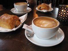 'french' breakfast = cafe au lait + croissants