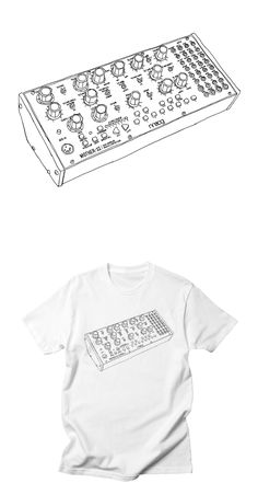 Analogue synth T-Shirt Design by Son of Sine. Analog Synth, Bella Canvas, Shirt Designs, Tees, Cotton, T Shirt, Women, Style, Fashion
