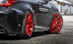 Black Lexus RC-F With Red Strasse Forged Wheels Is Sexy All Over