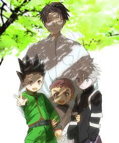 Wing, Gon, Zushi, and Killua