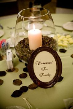 candle coffee bean centerpieces :) october-wedding