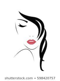 Similar Images, Stock Photos & Vectors of Young Woman face. Vector - 596544443 - Similar Images, Stock Photos & Vectors of Young Woman Face Vector – 596544443 Woman Face Silhouette, Silhouette Art, Illustration Sketches, Drawing Sketches, Makeup Illustration, Face Sketch, Pencil Art Drawings, Fabric Painting, Rock Art
