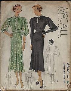 McCall 8840 | 1936 Ladies' & Misses' Dress