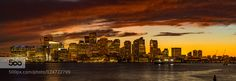Sunset Over Boston - Pinned by Mak Khalaf Beautiful sunset over Boston downtown and marina. City and Architecture Bostonarchitecturebuildingcitycityscapecloudsdowntownharborlightmarinanightoceanreflectionseaskyskylinesunsettravelwater by astroprojector