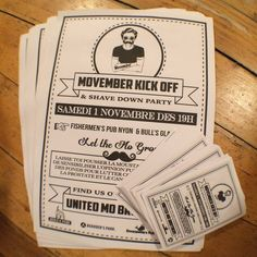 Affiche et Flyers Movember 14 Movember, Flyers, Cover, Books, Head Lice Nits, Event Posters, Livros, Ruffles, Book