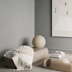Studio Oliver Gustav ---Such artistic display & furniture and beautiful grey mouding wall
