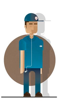 Characters Illustration by Gerardo Lisanti, via Behance