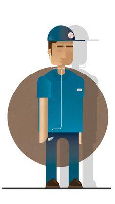 Characters|Illustration by Gerardo Lisanti, via Behance