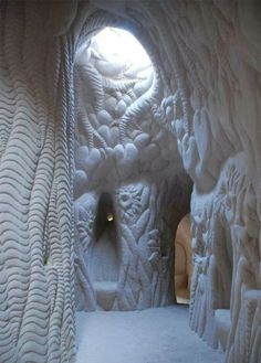 Hand carved cave in Abiquiu, New Mexico