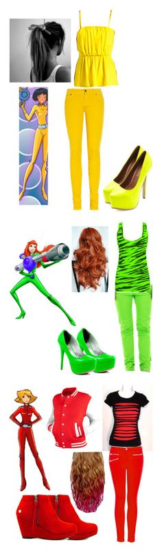 """""""Totally Spies!"""" by rebellious-prophit ❤ liked on Polyvore featuring Ksubi, Susana Monaco, Charlotte Russe, Spy Optic, Veda Soul, J Brand and Blink"""