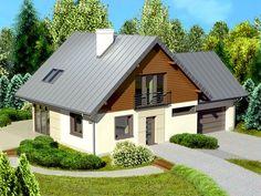 DOM.PL™ - Projekt domu Dom przy Cyprysowej 5 CE - DOM EB2-46 - gotowy projekt domu