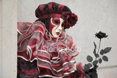 Female mask with harlequin costume at carnival in Venice (XXL) Royalty Free Stock Photo