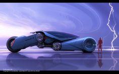 futuristic vehicle, wolf iv lightning drive by wookadee