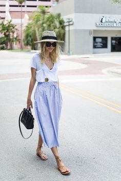 Casual chic outfit ideas for summer 10 smart casual skirt, smart casual o. Plaid Fashion, Look Fashion, Fashion Outfits, Fashion Ideas, Fashion Tips, Fashion Trends, Looks Hippie, Casual Chic Outfits, Casual Skirts