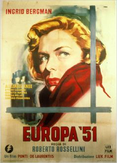 Europa '51 was poorly received in America at time of release.  It is not hard to guess why: the overwhelming Protestant ethos of this nation would not have identified with poor devout Catholics in Southern Italy, nor with one character driven by socialist notions.  From our vantage point today, we can conclude that the protagonist was suffering from clinical depression.  There was no formal outlet for her to find meaning by serving the less fortunate. Thus, she was outcast.-Donata Guerra