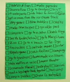 20 Little Things to Do This Summer for kids...I still like to do some of these things