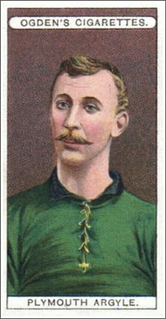 Cigarette card in the 1900s - Plymouth Argyle.