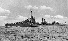 A German destroyer on patrol during World War II.