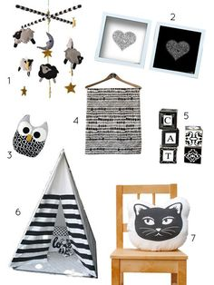 Basic But Bold: Handcrafted Black & White Baby Decor | Apartment Therapy
