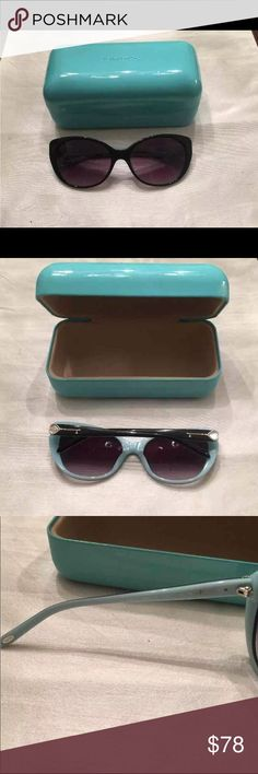 Tiffany Sunglasses Tiffany cateye sunglasses. Missing a heart on one side, otherwise in great condition. Cheaper on VNTD app:-) Tiffany & Co. Accessories Sunglasses