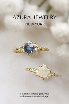 Azura Jewelry provides a collection of beautiful authentic Gemstones jewelry. These Moonstone and Blue topz beautiful promise ring for special someone, or a gorgeous engagement ring! It can also be a statement ring and make your look more classy and elegant. Our bands are made with 14k Gold Vermeil but are customizable in 10k Solid Gold and 14k Solid Gold. Our team does our best to give our customers premium quality gemstones and provide accessible pricing. Find your gem today! Beautiful Promise Rings, Topaz Jewelry, Dainty Ring, Diamond Cluster Ring, Yellow Gold Rings, Stacking Rings, Blue Topaz, Solid Gold, Natural Gemstones