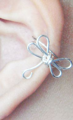 Ear Cuff Silver Dragonfly Wings Ear Wrap by MaggieMadeWithLove. $10.00, via Etsy.