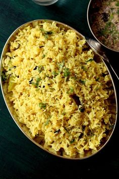 Hyderabadi khichdi recipe, a tasty breakfast made with rice, masoor dal & aromatic spices that's served with a tangy khatta. How to make hyderabadi khichdi Side Dish Recipes, Veggie Recipes, Vegetarian Recipes, Cooking Recipes, Rice Recipes, Recipies, Bread Roll Recipe Indian, Vegan Indian Recipes, Ethnic Recipes