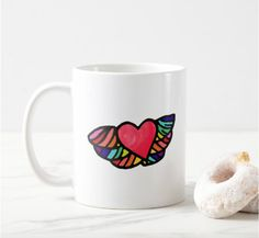 Tell everybody your heart is full of colours and flies up high with this MUG. When your heart is full of colours and flies up high ♥ LGBTQ ally.
