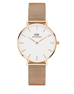 David Wellington metallic mesh band watch strap