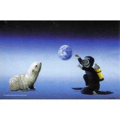 CLASSE DES PETITS NOUVEAUX, postcard $1.25 Art by Pascal, The Painter of Blue ®, © www.pascal-lecocq...