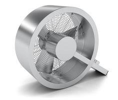 Q design ventilator.   Industrieel vormgegeven.  Q imponeerd! Een staaltje techniek in een wel heel mooi vormgegeven design.