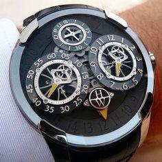 The impressive @harrywinston Opus X on the wrist!