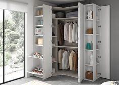 27 modern wardrobe idea for your home 25 Wardrobe Design Bedroom, Modern Wardrobe, Closet Bedroom, Home Bedroom, Corner Closet, Corner Wardrobe, Small Space Interior Design, Bedroom Cupboards, Closet Layout