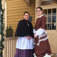 Lisa and Sarah ready to greet today's students!  #oshawa #oshawamuseum #museumlife #museumeducation #historyliveshere
